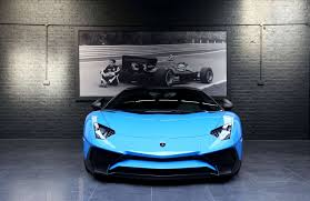 car lamborghini blue lamborghini aventador lp750 4 sv roadster pegasus auto house