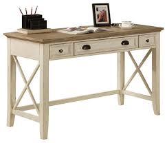 Rustic Writing Desk by Riverside Furniture Coventry Two Tone Writing Desk In Dover White