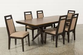 Rectangle Dining Room Table Spencer 7 Piece Rectangle Dining Set W Uph Chair Living Spaces