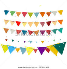 celebration decoration bunting flags isolated vector stock vector