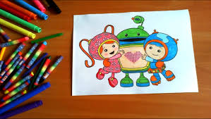 team umizoomi coloring pages kids colors coloring colored