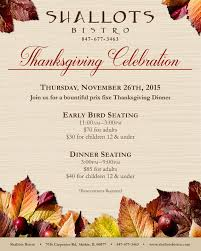 thanksgiving celebration shallots bistro