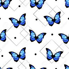 abstract pattern butterfly seamless pattern with abstract butterfly and geometric shapes