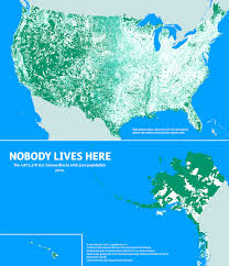 The Map Of The Usa by Brain Post Map Of Where Nobody Lives In The Usa 47 Of The Usa