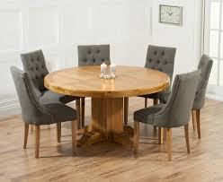 buy mark harris turin solid oak 150cm round dining set with 6