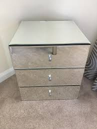 Glass Bedside Table by Brand New John Lewis Alexia Glass Bedside Table In Prenton