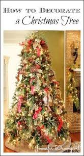traditional red gold and green decorated christmas tree
