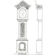 Wood Clocks Plans Download Free by Amrud Acanthus Carving Pattern 54 Klokkekasse Grandfather Clock