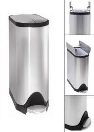 poubelle cuisine pedale 30 litres made in design mobilier contemporain luminaire et décoration