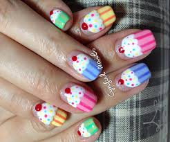 sweets nail art designs