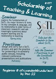 sotl scholars program is accepting applications center for