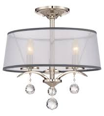 Quoizel Flush Mount Ceiling Light Quoizel Whi1716is Whitney 3 Light 16 Inch Imperial Silver Semi