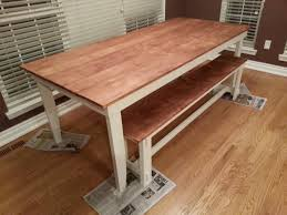 rustic table and bench minwax honey stain wood finishes