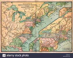 Vintage United States Map by Vintage Map Of United States America Development Of Colonies And