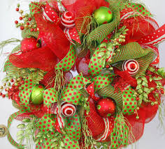 christmas mesh wreaths deco mesh do you like it i didn t at ladybug wreaths by