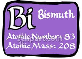 Bismuth Periodic Table Table Of Elements Bismuth Royalty Free Clipart Picture