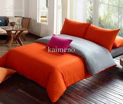 Orange Bed Sets Bedding Modern Orange Grey Duvet Set King Comforter