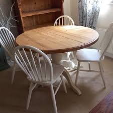 shabby chic round dining table solid pine round dining table and 4 chairs pretty shabby chic style