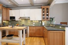 white and wood cabinets kitchen white and light wood cabinets kitchen ideas with color
