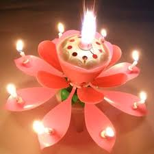 amazing birthday candle amazing musical lotus rotating happy birthday candles