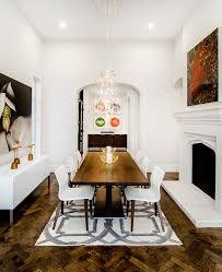 eclectic dining room tables dining room mediterranean with crystal