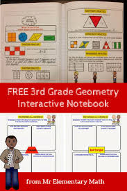 free 3rd grade geometry interactive notebook from mr elementary