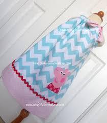 peppa pig aqua pink u0026 red chevron cookiebellacreations
