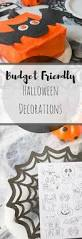 budget friendly halloween decorations table place settings