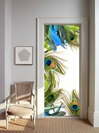 Woodland Forest Peel And Stick Removable Wallpaper Mural Peel Stick Door Sticker Peacock Frame