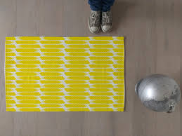 Modern Stripe Rug by Swedish Rug Striped Rug Yellow Rugs Modern Carpet