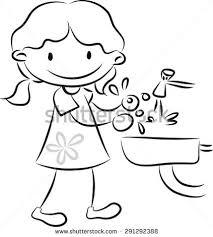 Hand Washing Coloring Sheet - washing hands stock vector 291292385 shutterstock