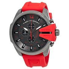 diesel mega chief gunmetal dial men u0027s chronograph watch dz4427