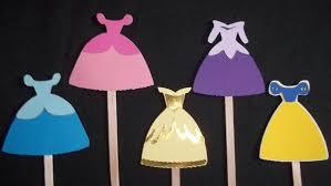 set of 12 disney princess dress cupcake toppers princess