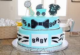 baby boy cakes for showers spcookiequeen i gave birth to a baby shower cake
