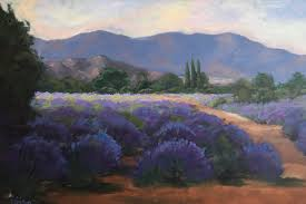 lavender field 24x36 original oil painting by kathleen m robison