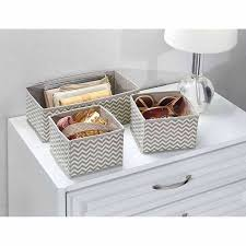 underwear organizer interdesign chevron fabric closet dresser drawer storage organizer