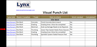 Construction Punch List Template Excel How To Create Construction Punch List Template In Excel