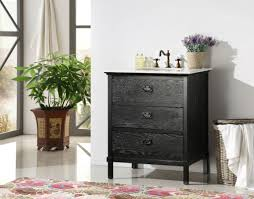 abel 30 inch black bathroom vanity marble top