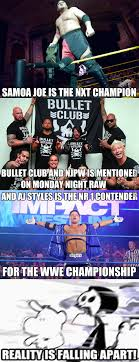 Aj Styles Memes - all that s missing is maggle cole saying wrestler instead of