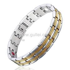 magnetic bracelet gold plated images 24k gold plated magnetic therapy mens id bracelet with engraving jpg