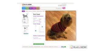 machine knit dog sweater pattern youtube