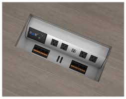 Modern Electrical Outlets Cable Management Box Computer Cable Connection Management Box