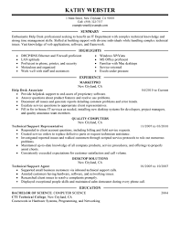 Best Resume For Quality Assurance by Best Help Desk Resume Example Livecareer