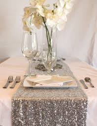 silver sequin table runner sparkling sequin table runner in silver 15 wide by 108 long dana