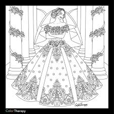 wedding dress coloring fashion coloring pages adults
