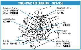 corvette alternator bracket 30834 70 74 alternator brace w bolt 350
