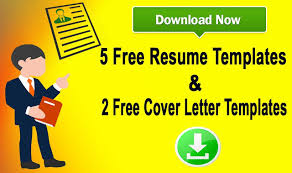 free resume cover letter template download download 5 resume templates u0026 two cover letters templates 2017