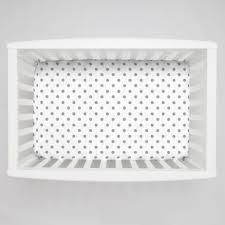 Mini Crib Bedding by Gray And White Dots And Stripes Mini Crib Bedding White And Gray