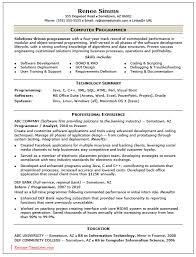 Computer Programmer Job Outlook Computer Programmer Resume Berathen Com