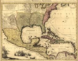 Old Mexico Map by 1710 Map America Mexico Beautiful Detail New Spain Florida